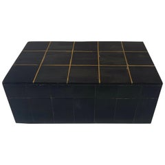 Charcoal Bone Box with Brass Inlay, Indonesia, Contemporary