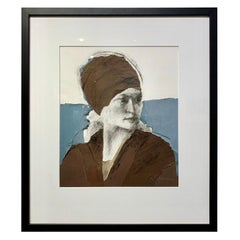 Charcoal Collage Portrait by Judith Klausenstock