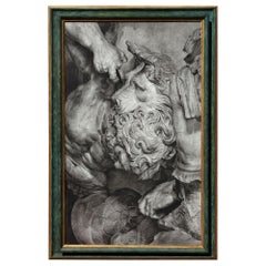 Charcoal Drawing of Samson and the Lion