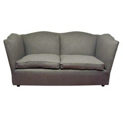 Charcoal Grey Wool Flannel Sofa
