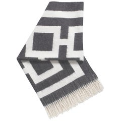 Charcoal Nixon Baby Alpaca Throw Blanket