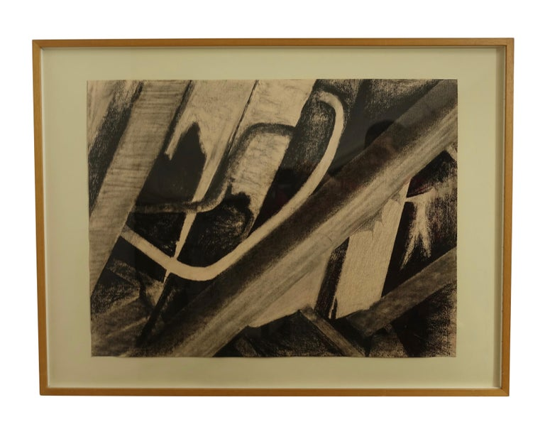 Charcoal on Paper Wreckage #5 Betty Barsha For Sale 2