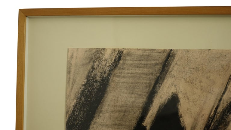 Wood Charcoal on Paper Wreckage #5 Betty Barsha For Sale