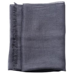Charcoal Solid Linen Scarf / Wrap / Shawl
