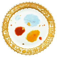 Charger Plate Gold Hand Painted Coralla Maiuri Modern New Tableware