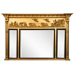 Chariot Triptych Mirror, circa 1840