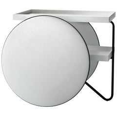 Chariot White Trolley Table by Gamfratesi