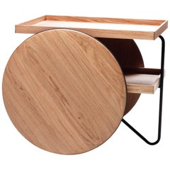 Chariot Wood Trolley Table by GamFratesi