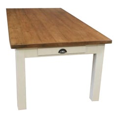 Charlbury Bespoke Pine Farmhouse Table, 20th Century