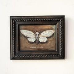 "Surrealist Contemporary Painting, ""Ghost Cicada"""