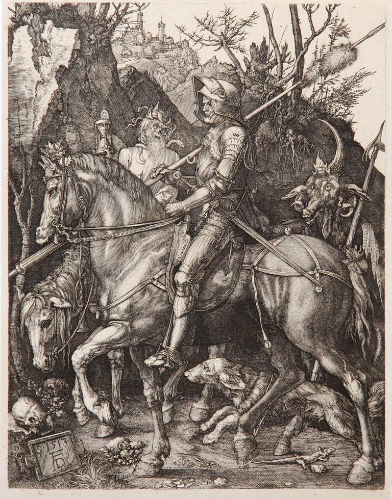 Charles Amand Durand Figurative Print - Knight, Death and the Devil by Amand-Durand after Albrecht Durer