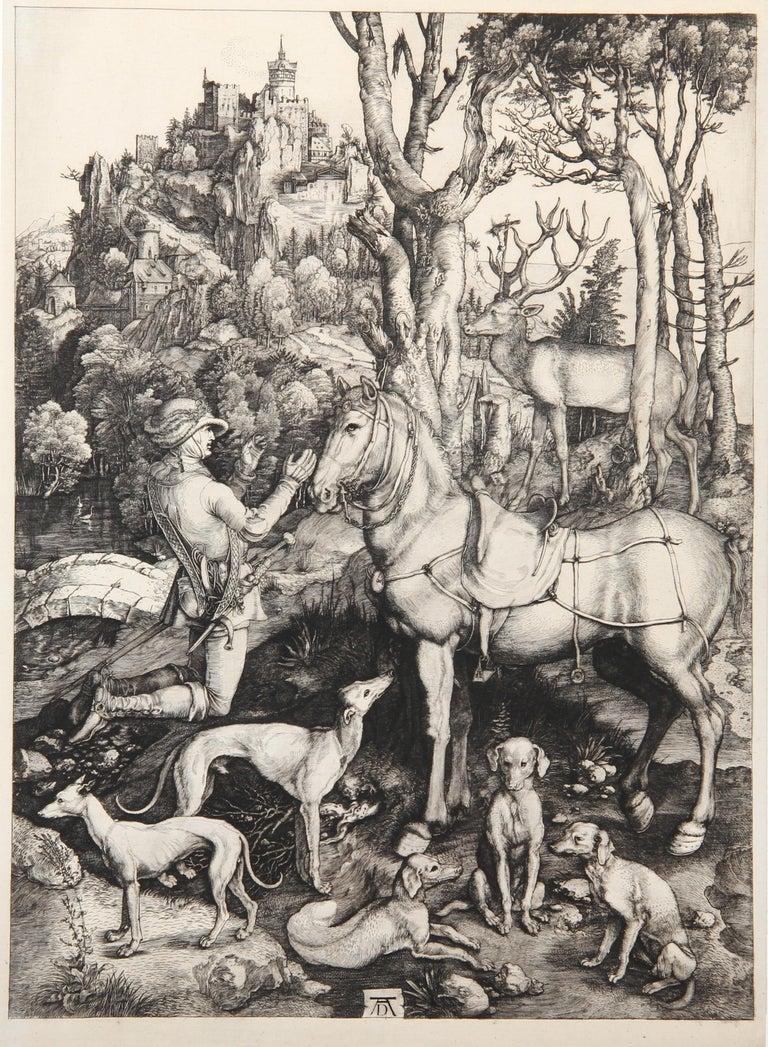 Saint Hubert etching by Amand-Durand after Albrecht Durer  - Print by Charles Amand Durand