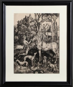 Saint Hubert etching by Amand-Durand after Albrecht Durer