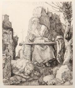 Saint Jerome by Amand-Durand after Albrecht Durer