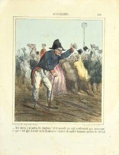 Actualités - Original Lithograph by Cham - 1840