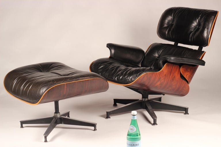 Charles and Ray Eames lounge chair  The Eames lounge chair and ottoman are furnishings made of molded plywood and leather, designed by Charles and Ray Eames for the Herman Miller furniture company. They are officially titled Eames lounge 670 and