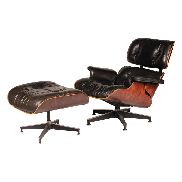 Charles and Ray Eames 670 Rosewood Lounge Chair and 671 Ottoman