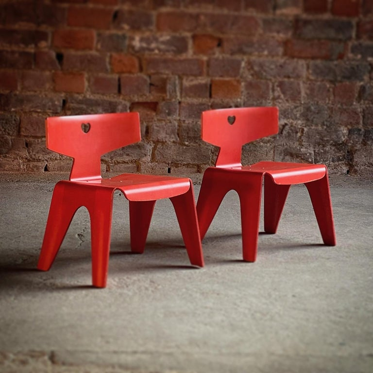 Mid-Century Modern Charles and Ray Eames Children's Chairs, 2004 For Sale