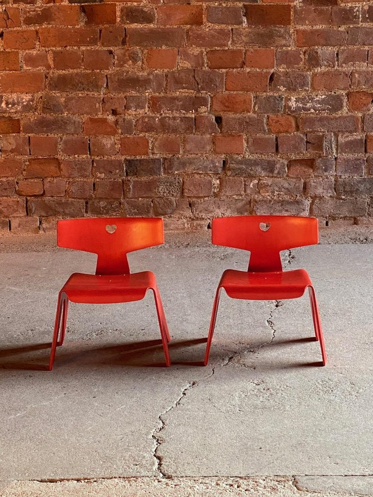 Charles and Ray Eames Children's Chairs, 2004 In Good Condition For Sale In Longdon, Tewkesbury