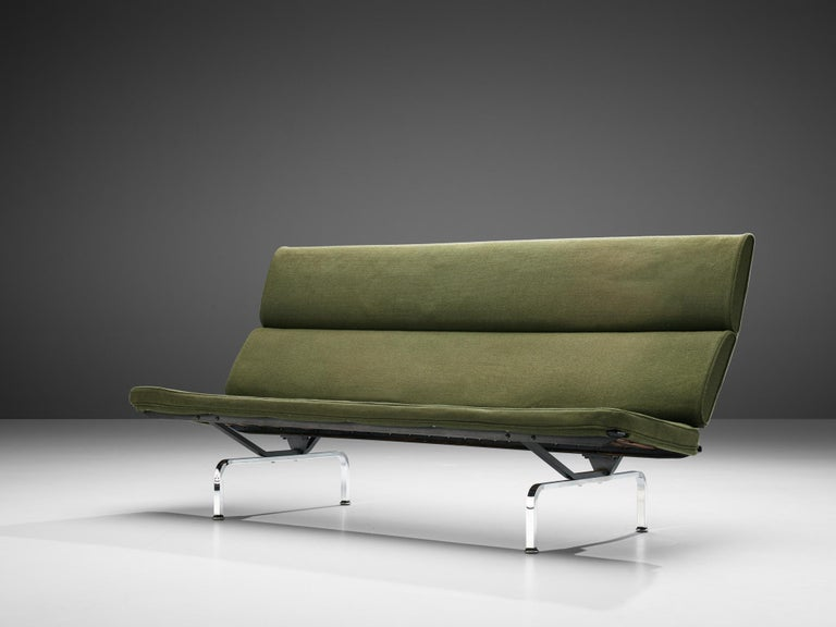 Charles and Ray Eames for Herman Miller, sofa model 'compact', metal, upholstery, United States, 1954