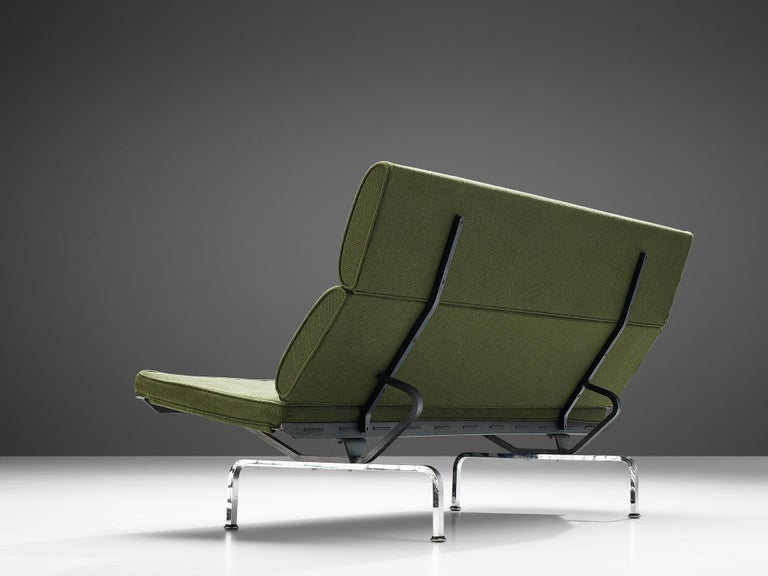 Mid-20th Century Charles and Ray Eames 'Compact' Sofa in Green Upholstery For Sale