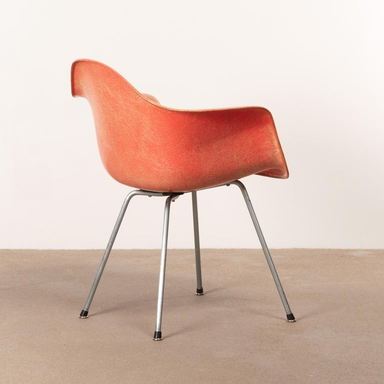 American Charles and Ray Eames DAX Salmon Armchair Herman Miller 'Zenith Plastics'