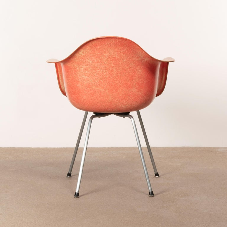Molded Charles and Ray Eames DAX Salmon Armchair Herman Miller 'Zenith Plastics'