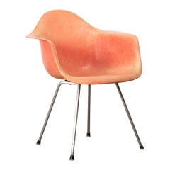 Charles and Ray Eames DAX Salmon Armchair Herman Miller 'Zenith Plastics'