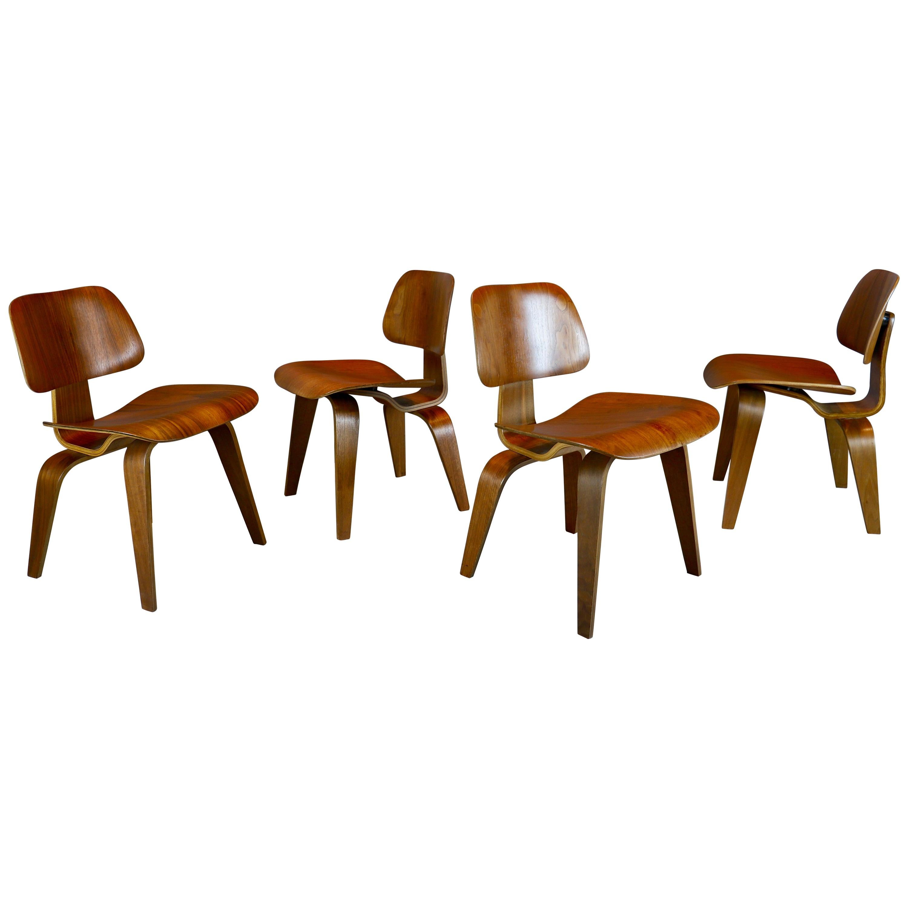 """Charles and Ray Eames """"DCW"""" Dining Chairs, 1940s"""