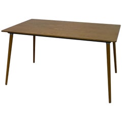 Charles and Ray Eames Dining Table DTM-3 in Walnut, circa 1950, Herman Miller