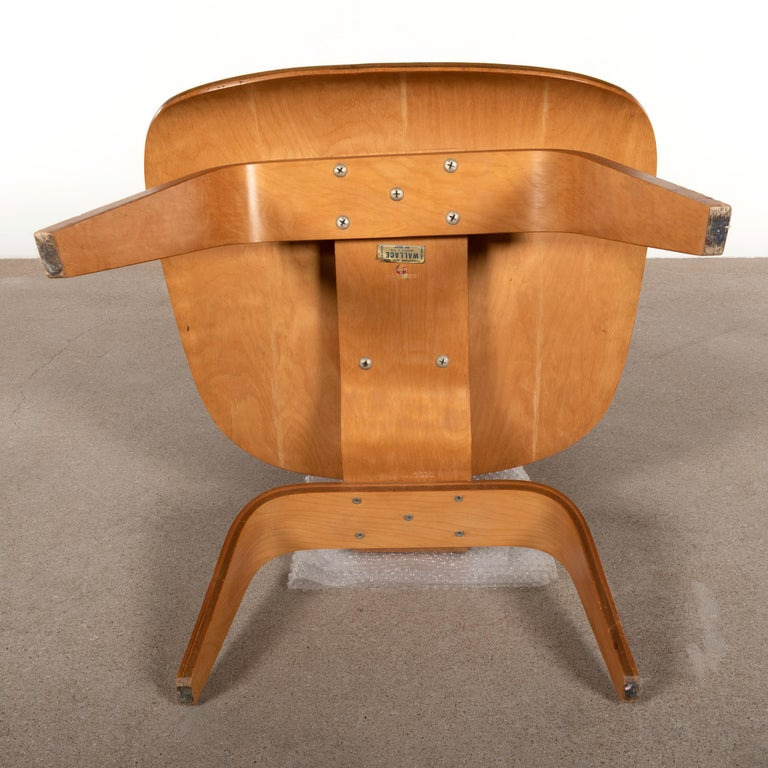 Charles and Ray Eames Early LCW Maple Lounge Chair for Evans Products, 1947 9