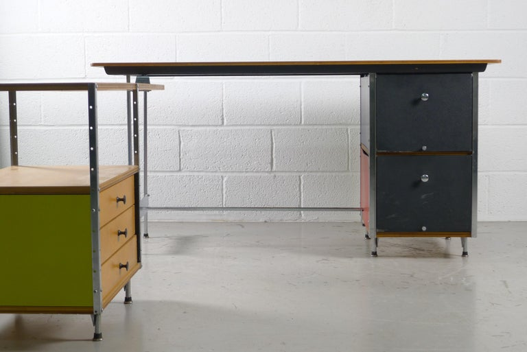 Mid-Century Modern Charles and Ray Eames Esu Desk and Return, Second Series, circa 1955 For Sale