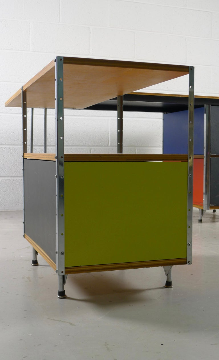American Charles and Ray Eames Esu Desk and Return, Second Series, circa 1955 For Sale