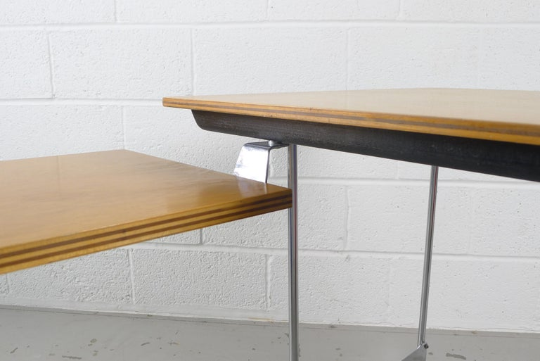 Charles and Ray Eames Esu Desk and Return, Second Series, circa 1955 In Good Condition For Sale In Wargrave, Berkshire