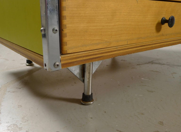 Mid-20th Century Charles and Ray Eames Esu Desk and Return, Second Series, circa 1955 For Sale
