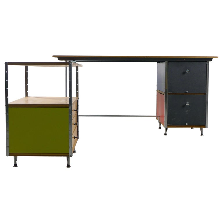 Charles and Ray Eames Esu Desk and Return, Second Series, circa 1955 For Sale