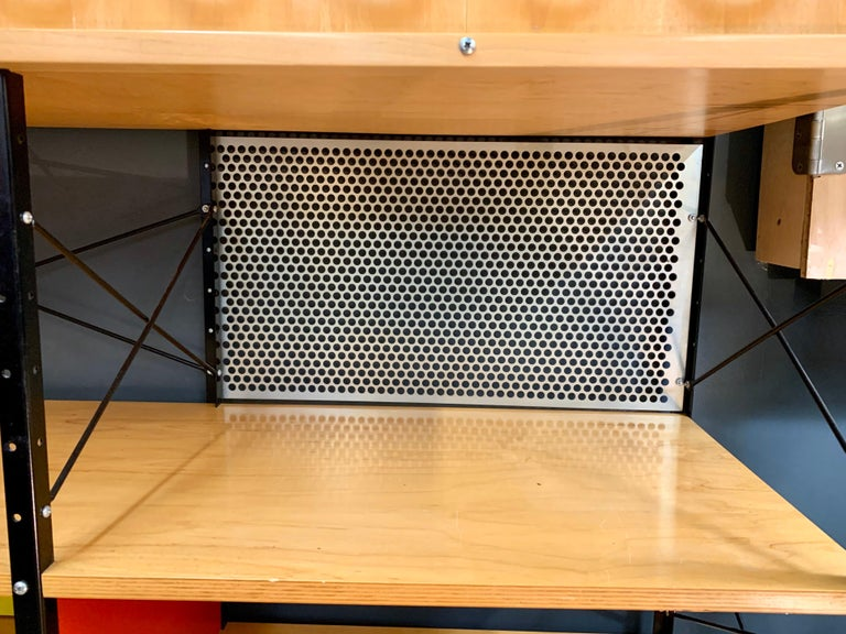American Charles and Ray Eames ESU Storage Unit Shelving Library Étagère Room Divider For Sale
