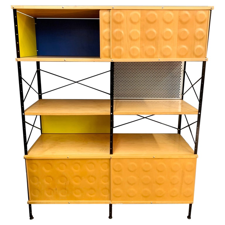 Charles and Ray Eames ESU Storage Unit Shelving Library Étagère Room Divider For Sale