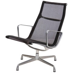 Charles and Ray Eames for Herman Miller Aluminium Group Black Mesh Lounge Chair