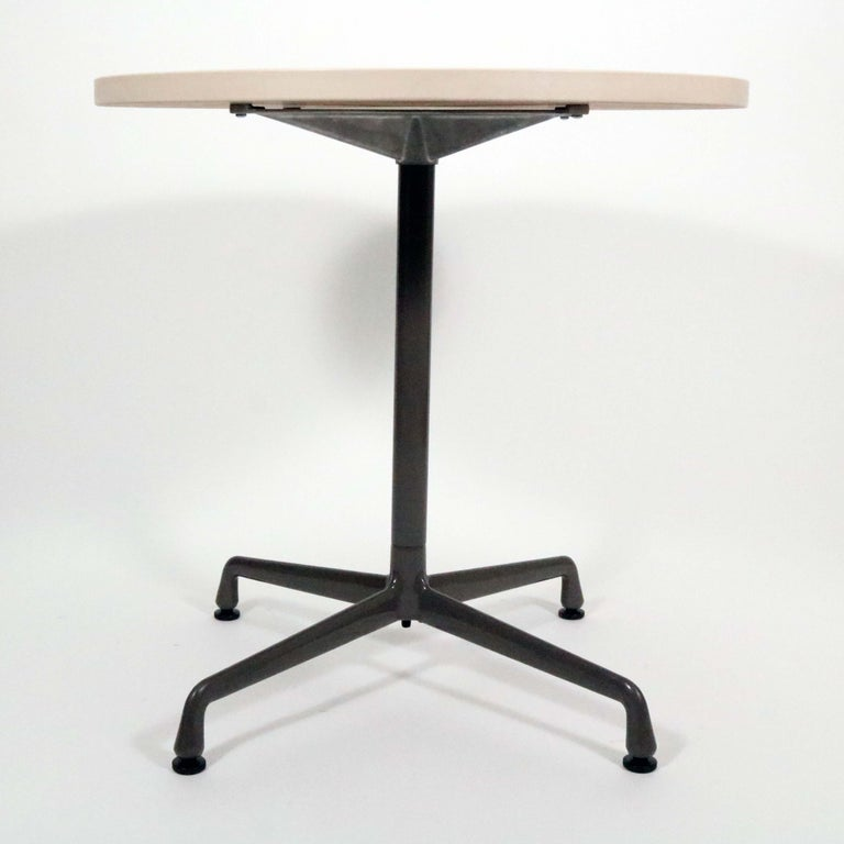 Charles and Ray Eames for Herman Miller Aluminum Group Bistro Table In Good Condition For Sale In Denver, CO