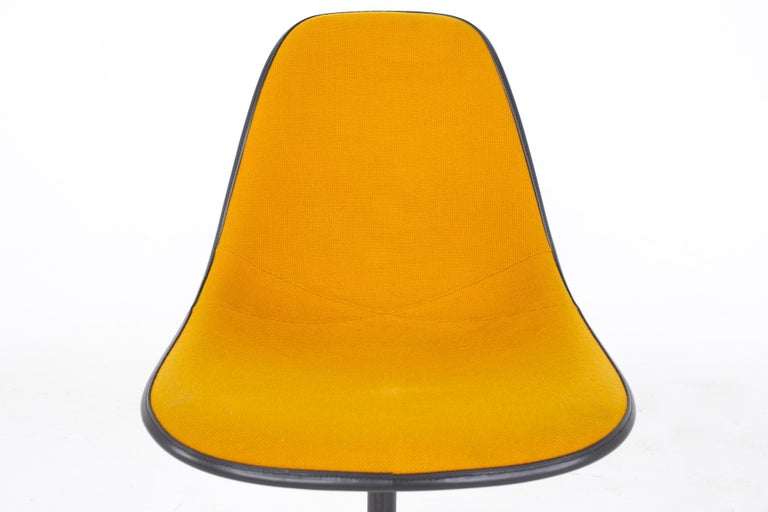 Late 20th Century Charles and Ray Eames for Herman Miller Mid Century Orange Upholstered Shell Cha For Sale