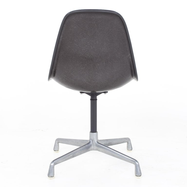 Charles and Ray Eames for Herman Miller Mid Century Orange Upholstered Shell Cha For Sale 2