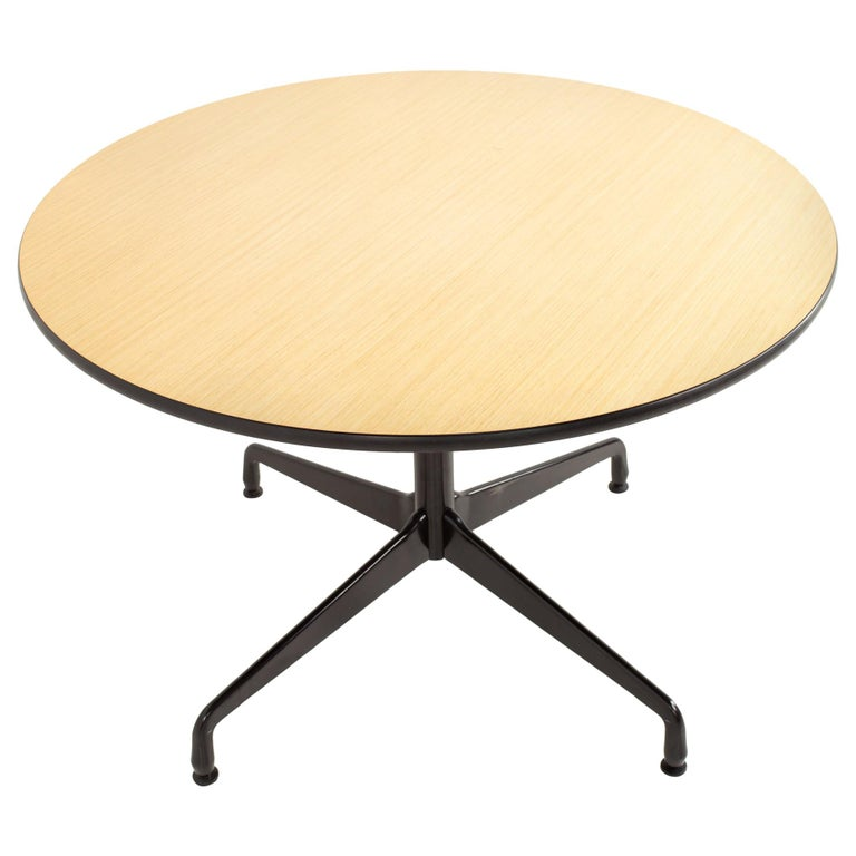 Charles and Ray Eames for Herman Miller Aluminum Group Wood & Black Dining Table For Sale