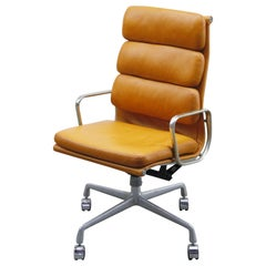 Charles and Ray Eames for Herman Miller Soft Pad Executive Chair, 1970s, Signed