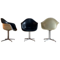 Charles and Ray Eames for Herman Miller Three 'La Fonda' Chairs, circa 1960s