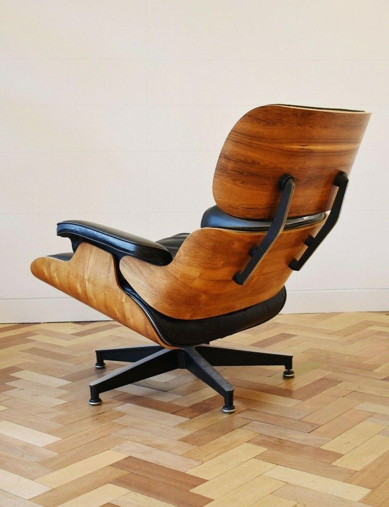 Woodwork Charles and Ray Eames Lounge Chair Herman Miller Rosewood, 1970s For Sale