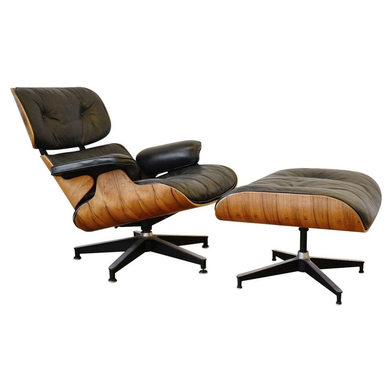 Charles and Ray Eames Lounge Chair Herman Miller Rosewood, 1970s For Sale