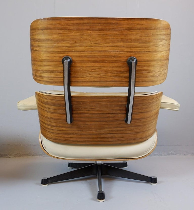 Wood Charles and Ray Eames Lounge Chair and Ottoman Mobilier International Edition For Sale