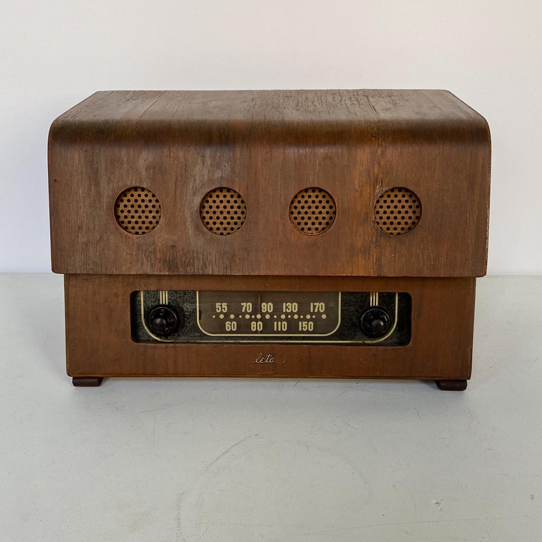American Charles and Ray Eames Molded Plywood Radio For Sale