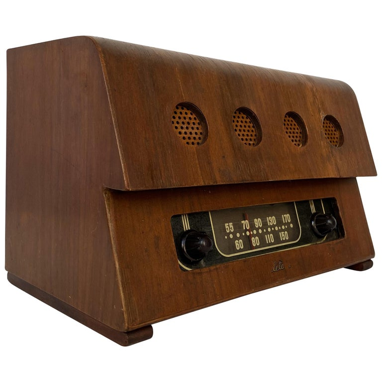 Charles and Ray Eames Molded Plywood Radio For Sale